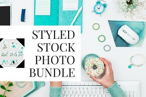 mint blue styled stock photos