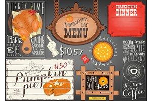 Thanksgiving Day Menu Placemat