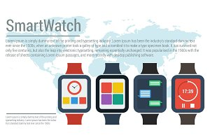 Banner flat smart watches