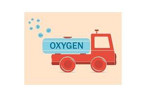 Truck erythrocyte carries oxygen