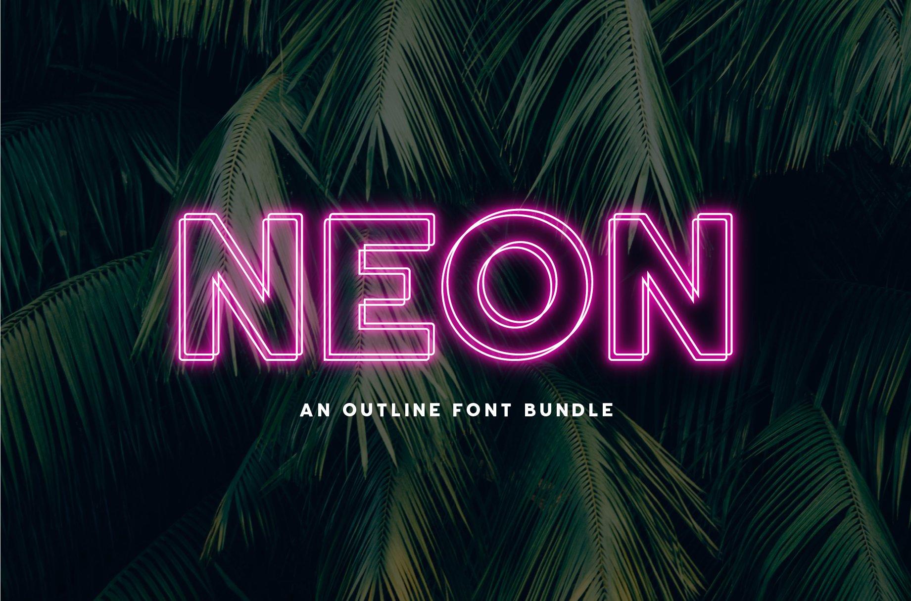Neon-Outline-Font-Bundle-www.mockuphill.com