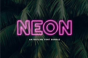 Neon - An Outline Font Bundle