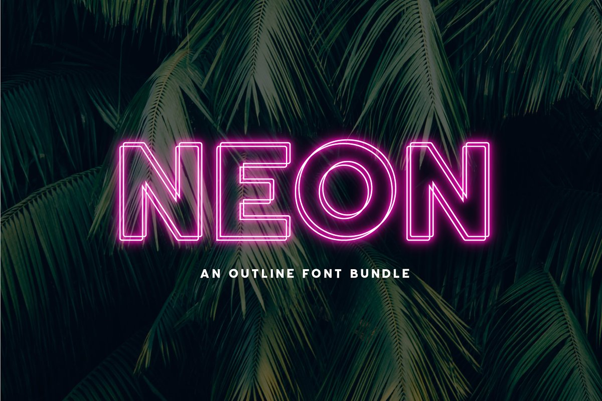 Neon - An Outline Font Bundle ~ Sans Serif Fonts ~ Creative