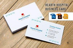 Hearth Hospital Business Card