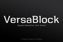 VersaBlock Sharp Geometric Font