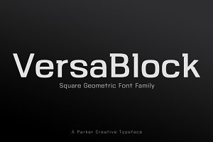 VersaBlock Sharp Geometric Font