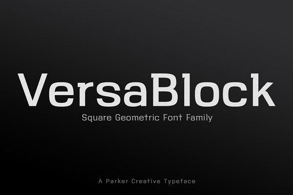 ★ VersaBlock ★ Sharp Font + Freebies