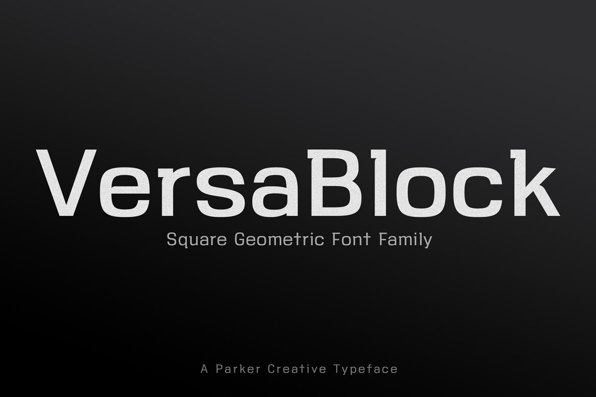 ☆ VersaBlock ☆ Sharp Font + Freebies ~ Sans Serif Fonts