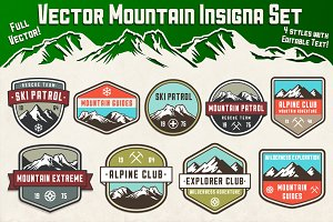 Vector Mountain Insignia Set
