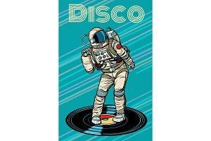 Disco. Astronaut dances