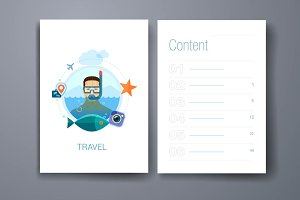 Flat design icons concept for travel
