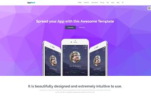 AppNext | Bootstrap App Landing Page