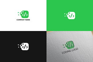 Coding logo design