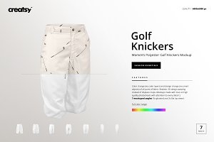 Women's Golf Knickers Mockup Set