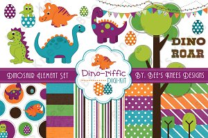 Dino-riffic Dinosaur Clipart