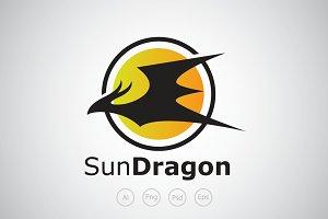 Sun Dragon Logo Template