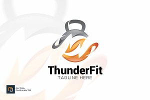 Thunder Fit - Logo Template