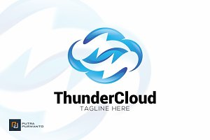 Thunder Cloud - Logo Template