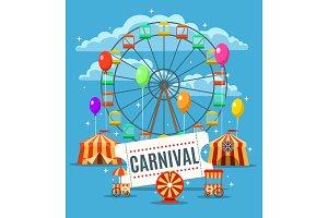 Carnival fun park poster