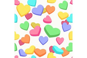 Valentine candy hearts pattern