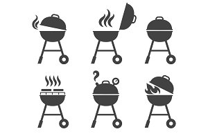 Barbeque grill icons