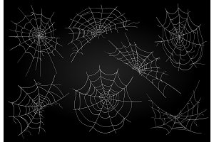 Cobweb icons set