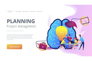 Project management concept landing