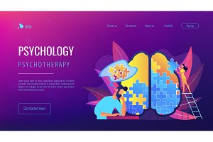 Psychotherapy and psychology landing
