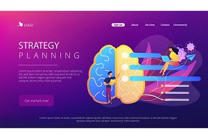 Strategy planning landing page.