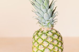 Whole Pineapple and copy space