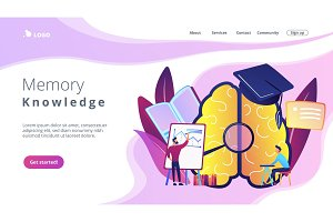 Memory and knowledge landing page.
