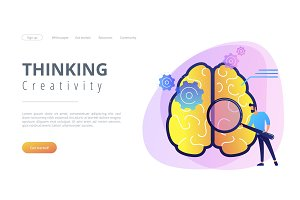 Thinking and creativity concept