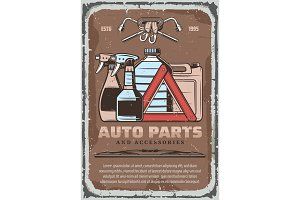 Car fluids and auto part accessories