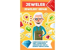 Jeweler profession and jewel repair