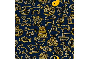 Chinese lunar year zodiac pattern