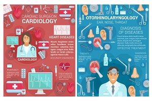 Cardiology, otolaryngology medicine
