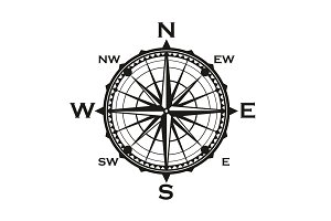 Rose of winds icon navigator compass