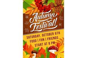 Autumn harvest festival fall poster