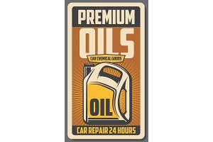 Car engine oil store poster
