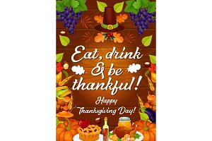 Thanksgiving autumn holiday card