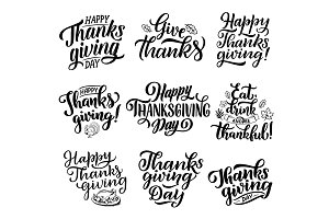 Thanksgiving holiday lettering