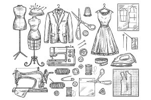 Tailoring and dressmaking sketch