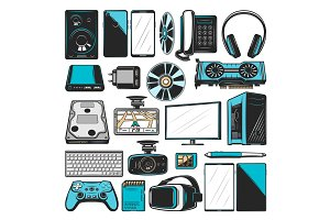 Electronics, computers and devices