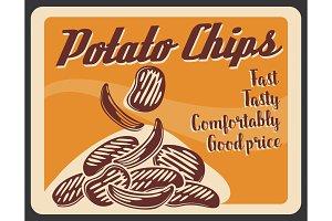 Potato chips fastfood snacks