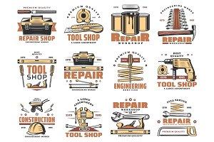 Repair and service work tools