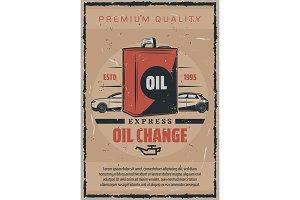 Car engine oils change auto service