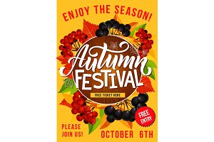 Autumn festival or picnic poster