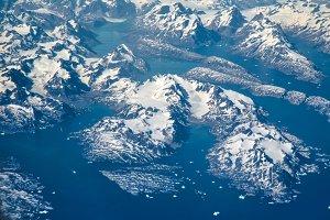 Greenland Glaciers and icebergs
