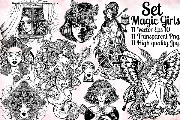 Magic Girls Set