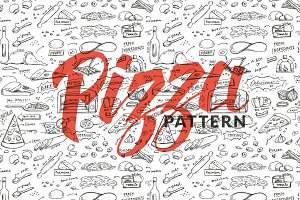 Handdrawn Pizza Pttern